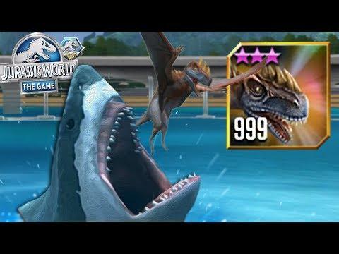 LEVEL 999 METRIAPHODON VS MEGALODON! - Jurassic  World The Game - Shake The Earth Event HD