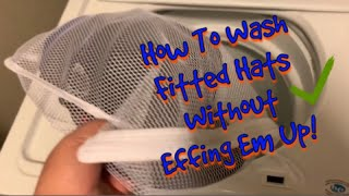 Wash Clean Flat Bill Fitted Hats or Caps In Washing Machine | Without Effing Them Up!