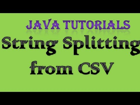 9.8 String Spliting from CSV (comma seperated Values) in Java