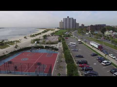 Far Rockaway beach Boardwalk- Drone