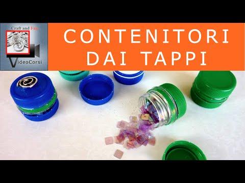 contenitori per riciclare i tappi delle bottiglie di pet