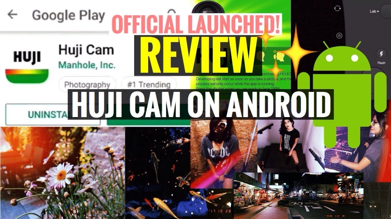HUJI CAM ON ANDROID by Manhole, Inc  RESMI RILIS | REVIEW