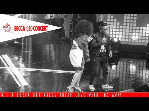 Watch M.I and Becca rekindle their love with 'No Away' @ Becca's 10years Unveiling Concert