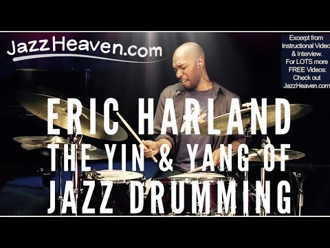 """Jazz Drummer"" Eric Harland JazzHeaven.com DVD Excerpt: Playing behind/on/ahead of the beat"