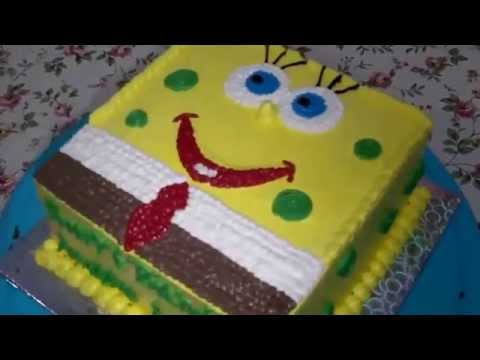 How To Make Spongebob Cake Homemade Birthday Cake Youtube