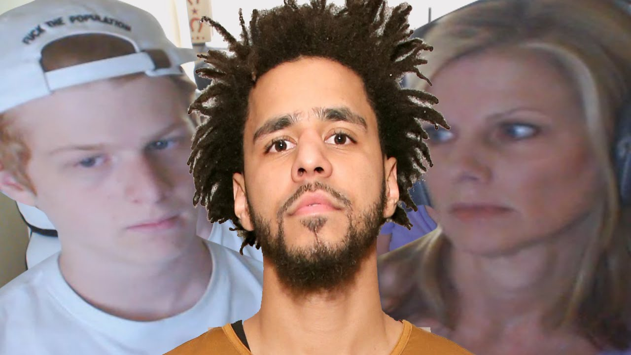 J Cole And His Mother Mom reacts to J...