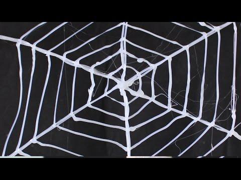 Cara membuat jaring laba laba menggunakan lem panas