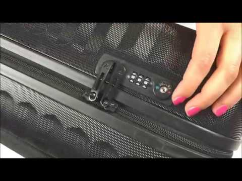 How To Unlock And Set Roncato Luggage Combination Lock Youtube