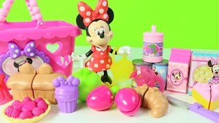 Minnie Mouse Riega el Jardin y Va al Super Mercado Juguetes de Minnie Mouse