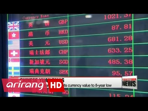 People's Bank of China drops its currency value to 8-year low