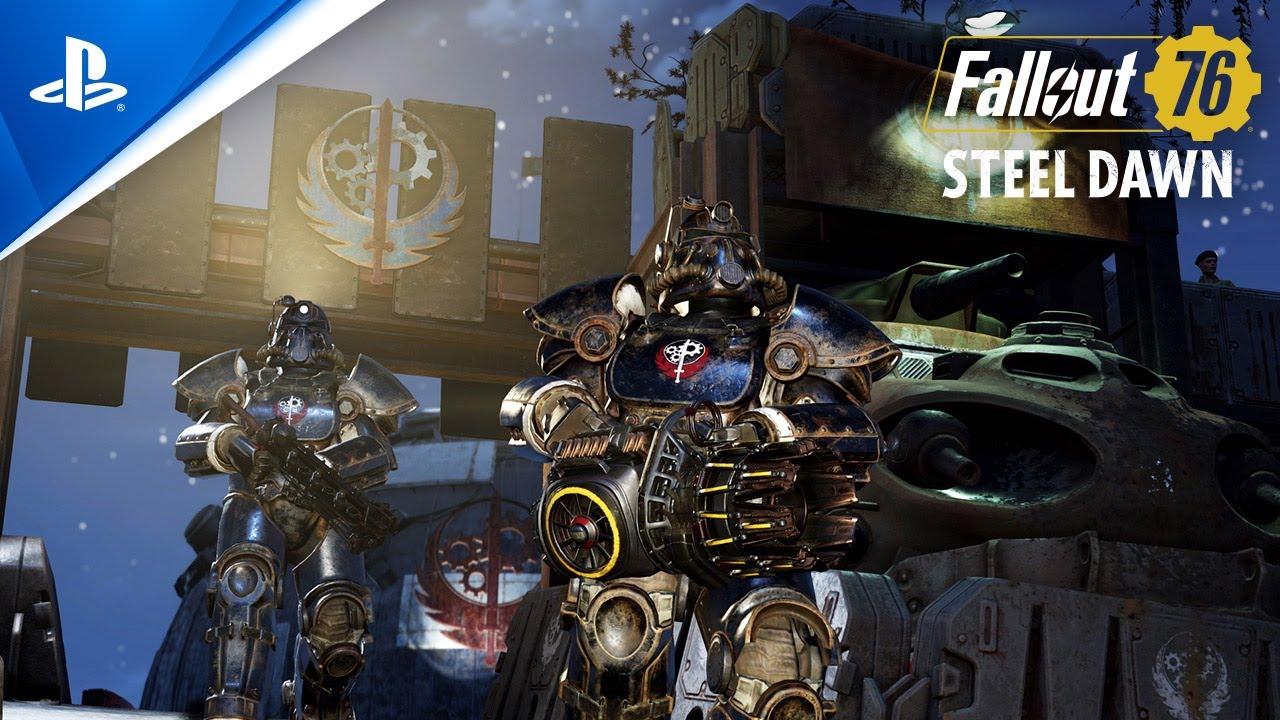 Tráiler de lanzamiento de Fallout 76 Hermandad del acero