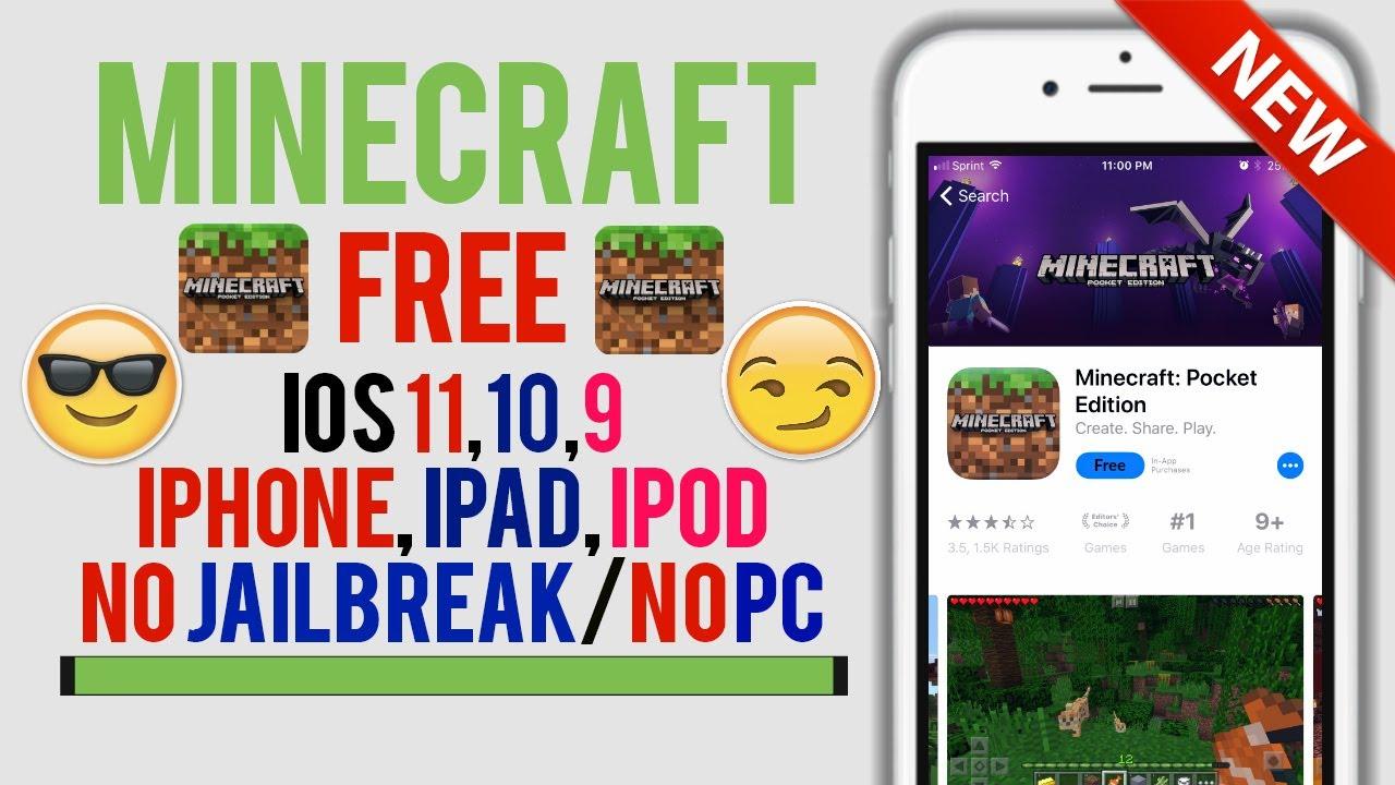Minecraft pe free download ios 7 no jailbreak