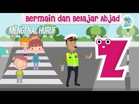 Belajar Membaca Abjad Bahasa Indonesia   Video Animasi Anak   Mengenal Huruf Z Sambil Bermain