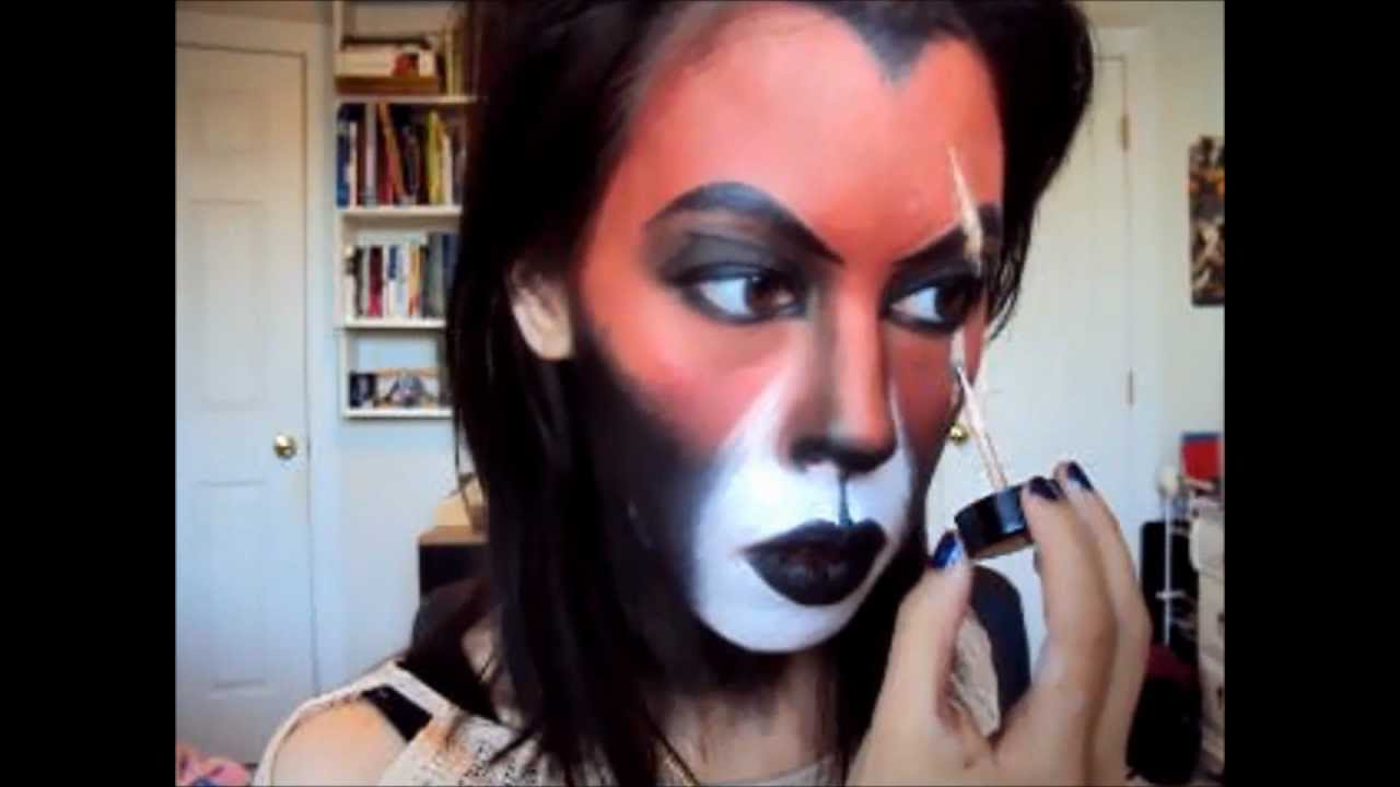 Halloween: Scar Costume Makeup (Lion King) - YouTube