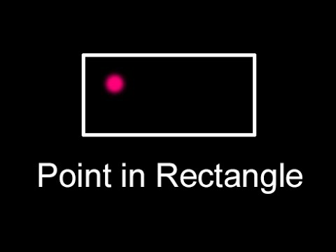 Check Point in Rectangle Collision Intersection Test | Same algorithm in Java, JavaScript, C#, C++