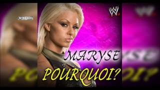 "WWE: ""Pourquoi?"" (Maryse) Theme Song + AE (Arena Effect)"