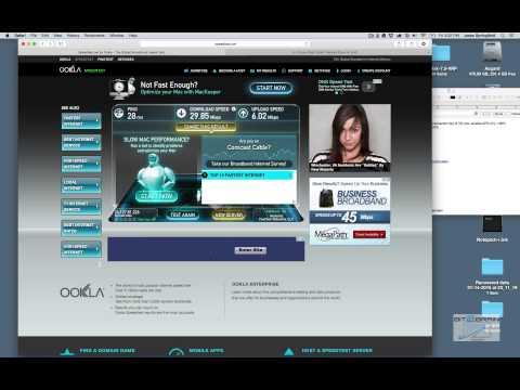 Internet Speed Test Using Ookla