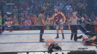 "TNA Impact Wrestling- Bully Ray & Sting Vs Bad Influence( With promos) Sting""Get the Tables!"" HD"