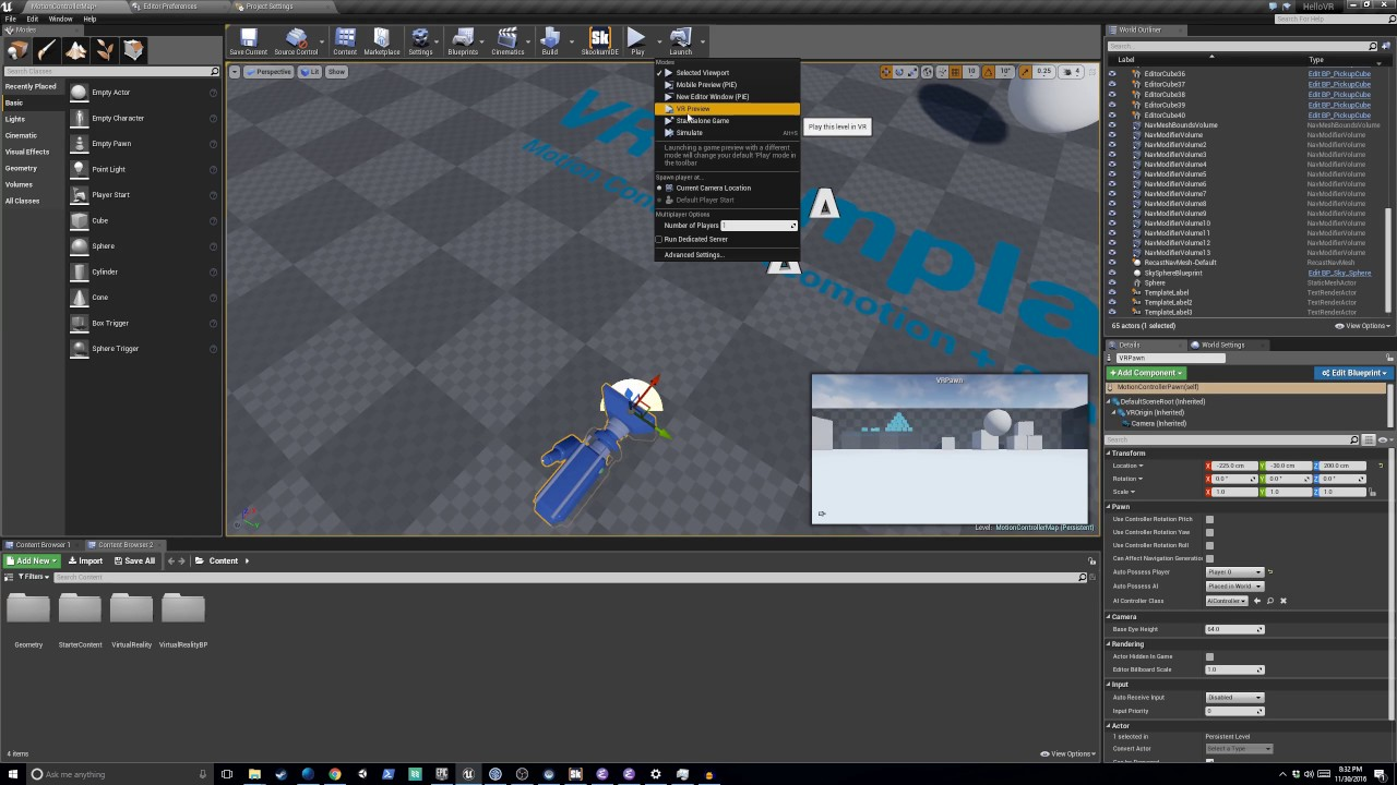 Introduction to VR Development using Unreal Engine 4