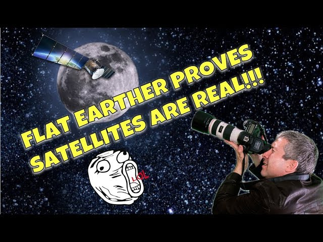 FLAT EARTHER FILMS SATELLITE AS IT PASSES IN FRONT OF THE MOON