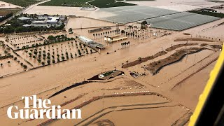 Spain floods: entire towns submerged after south-east battered by severe storms