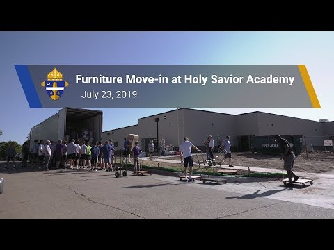 Moving In:  Classroom Furniture Arrives at Holy Savior Catholic Academy