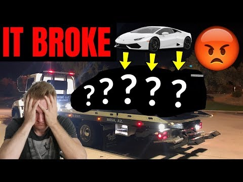 I BROKE My Lamborghini ALREADY (Can't Believe This...)