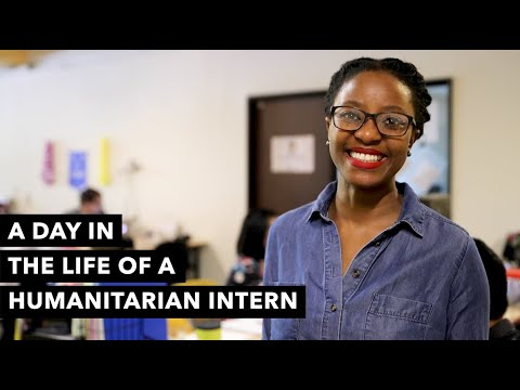 A Day in the Life of a Humanitarian Organization Intern in A