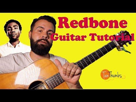 Childish Gambino - Redbone - Guitar Tutorial with intro tabs