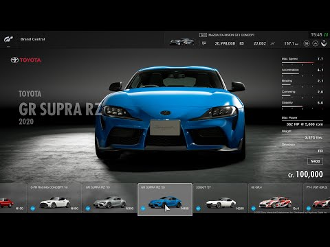 Gran Turismo Sport Full Car List Including All Special Cars 15 01 2020 Youtube