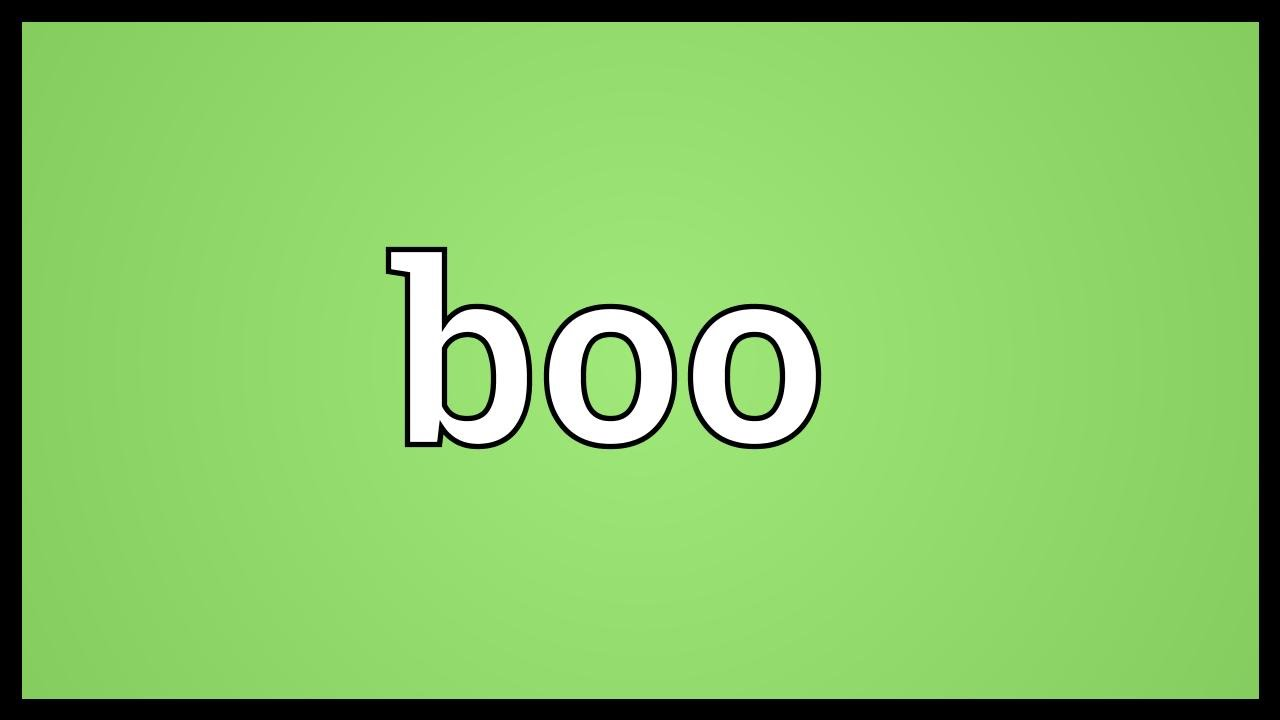 what does it mean when someone calls you boo thang
