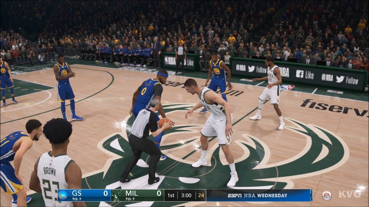 NBA Live 19 - Milwaukee Bucks vs Golden State Warriors - Gameplay (HD)  [1080p60FPS] - YouTube