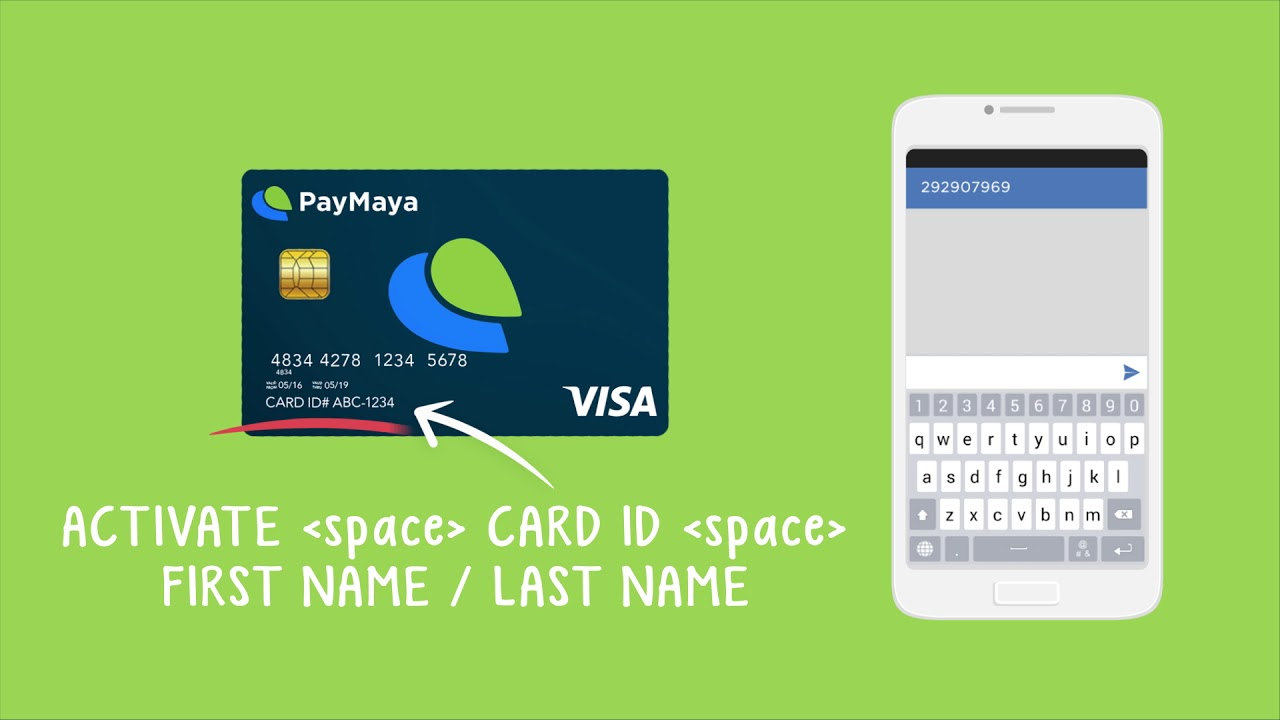 How to activate your physical PayMaya card via SMS
