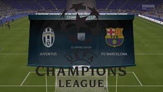 UEFA CHAMPIONS LEAGUE FINAL 2015 JUVENTUS VS BARCELONA FIFA 15 GAMEPLAY