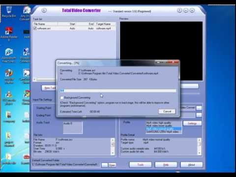 convert any video with total video converter