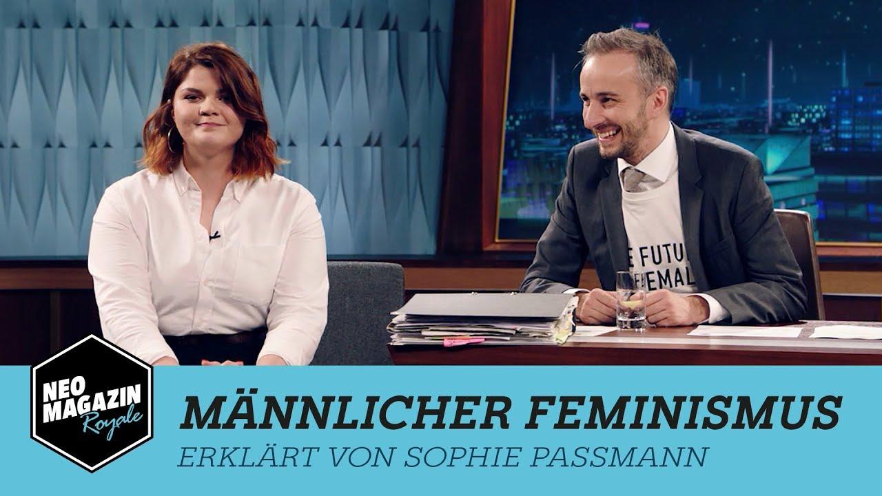 sophie passmann erklart mannlichen feminismus neo magazin royale mit jan bohmermann zdfneo
