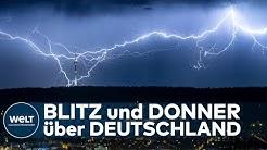 GEWITTER-WOCHENENDE: Gewitter, Hagel und Sturmböen - Deutschland wird durchgepustet