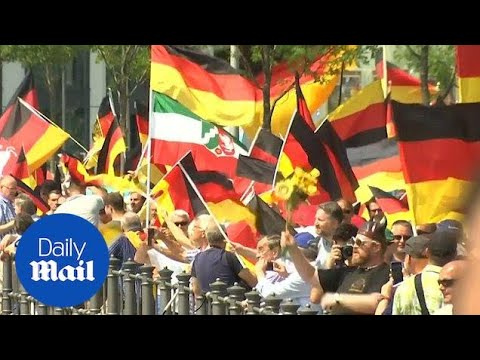 German far-right party AfD massively outnumbered by protestors - Daily Mail