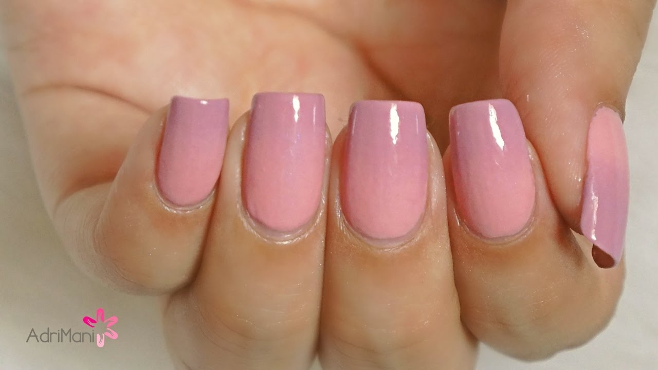 Uñas ombre / degradé sutil - Tutorial paso a paso - YouTube