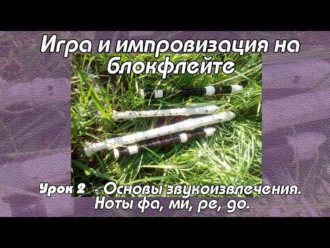 Уроки флейты  - Урок 2. Основы звукоизвлечения. Ноты фа, ми, ре, до (первая октава).
