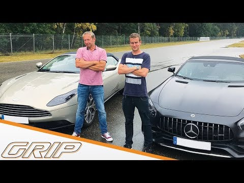 Aston Martin DB11 Volante vs. Mercedes-AMG GT C Roadster #451 | GRIP