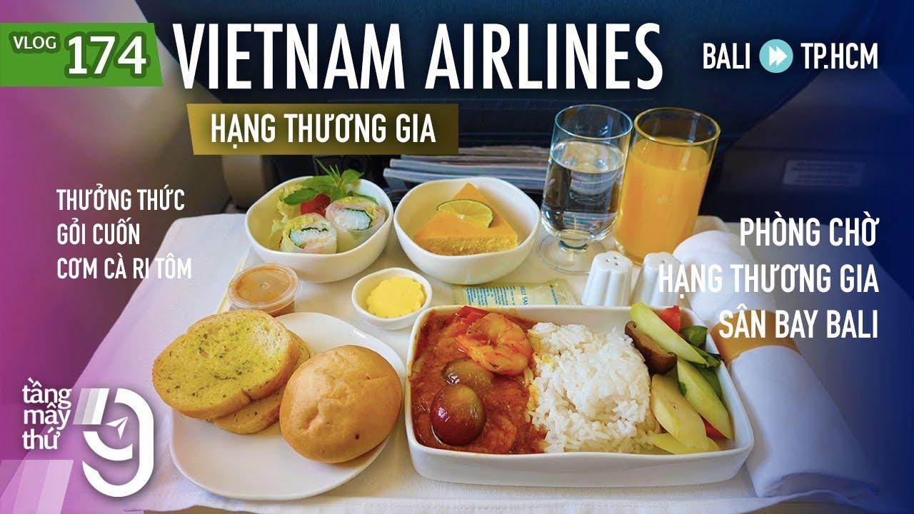 [M9] #174: Bay hạng thương gia Vietnam Airlines từ Bali về nước, ngắm núi lửa Agung | Yêu Máy Bay
