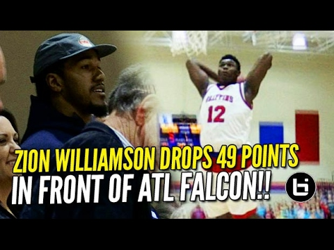 Zion Williamson Drops 49/14 In Front of Atlanta Falcon's Vic Beasley Jr.! Raw Game Highlights!!