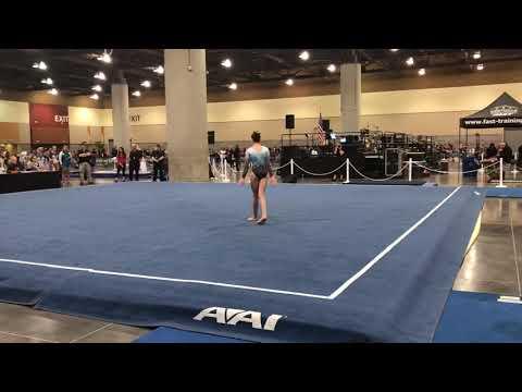 Zoe Norton Oakland Gymnastics level 9 class of 2022- floor