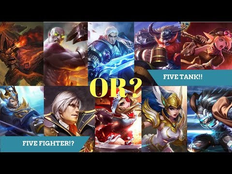 Best TROLL team Comps? FIVE TANK or FIVE FIGHTER? Mobile Legends Gameplay with Viewers.