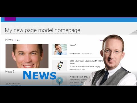 SharePoint Online New Page Model - News Web Parts