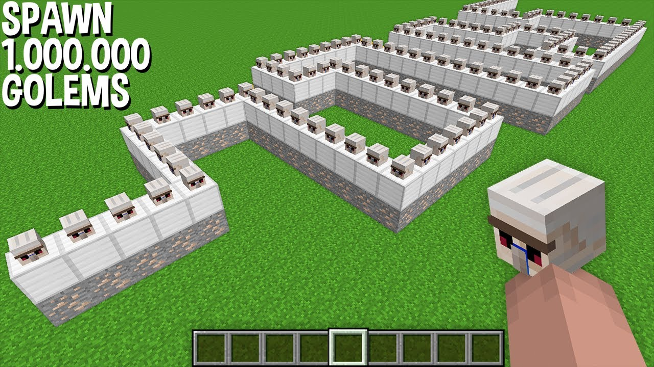 WHAT if SPAWN 1.000.000 IRON GOLEM at a TIME in Minecraft ? HOW TO SPAWN GOLEM ARMY !