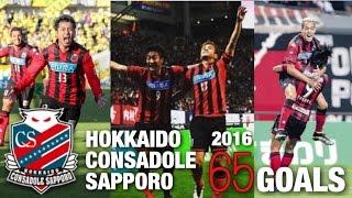 【2016年 全65ゴール】北海道コンサドーレ札幌 ゴール集