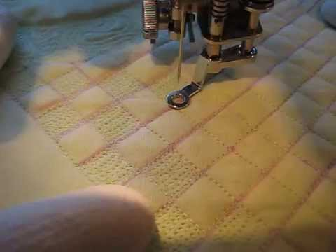 Free Motion Quilting Grid Based Design YouTube Gorgeous Free Arm Quilting Sewing Machine