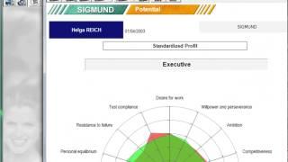 Comparez les résultats du test de personnalité sigmund avec un profil de poste